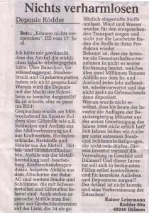 Nichts verharmlosen - DZ Leserbrief von R.Leiermann vom 19.06.10