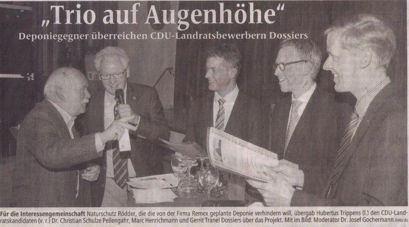 Quelle Dülmener Zeitung vom 14.11.14