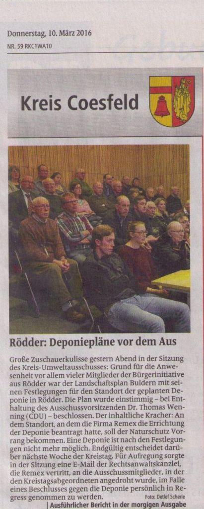 DZ Dülmen Kreisseite vom 10.03.2016